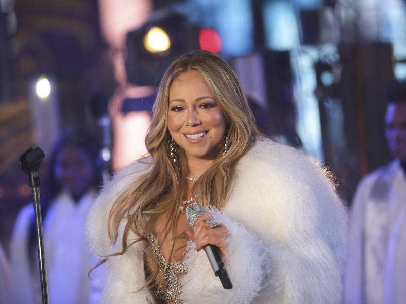 Silvester in New York - Foto: Mariah Carey bei der Silvesterfeier auf dem Times Square in New York. Foto:Brent N. Clarke