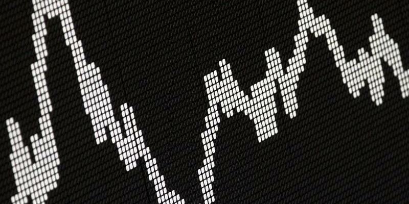 DAX-Kurve - Foto: Der Deutsche Aktienindex (DAX) zeigt die Wertentwicklung der größten deutschen Unternehmen. Foto:Frank Rumpenhorst / Illustration
