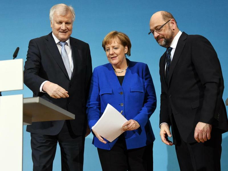 Seehofer, Merkel und Schulz - Foto: Maurizio Gambarini