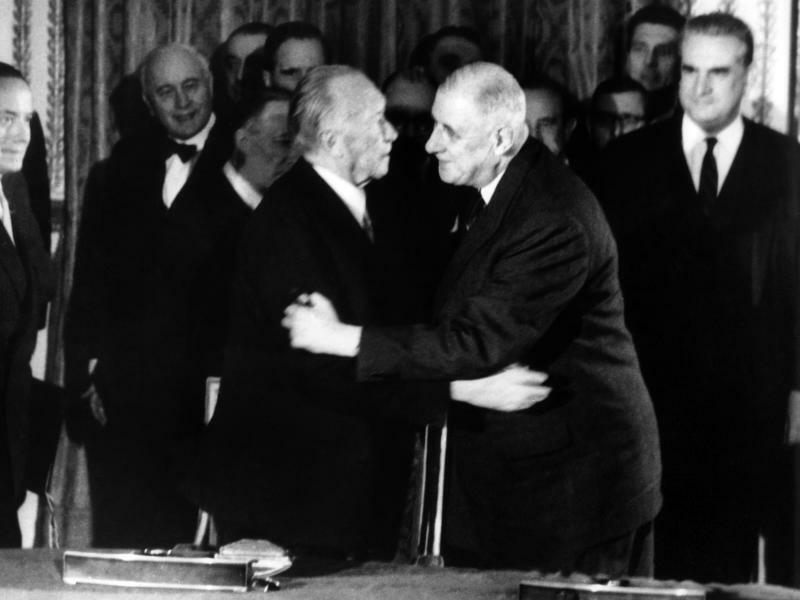 Konrad Adenauer und Charles de Gaulle - Foto: UPI