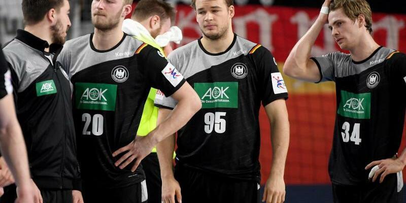 Ernüchterung - Foto: Deutschlands Handballer haben einen möglichen Einzug ins EM-Halbfinale nicht mehr in der eigenen Hand. Foto:Monika Skolimowska
