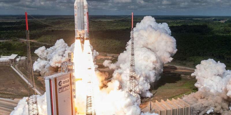 Start einer Ariane-5-Rakete - Foto: S Martin/Arianespace Cnes/Csg/ARIANESPACE