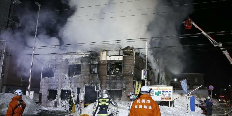 Löscharbeiten - Foto: Kyodo