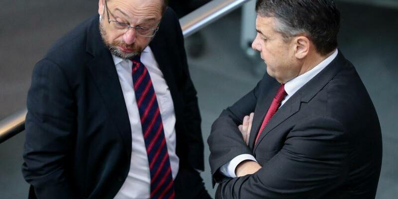 Schulz und Gabriel - Foto: Kay Nietfeld