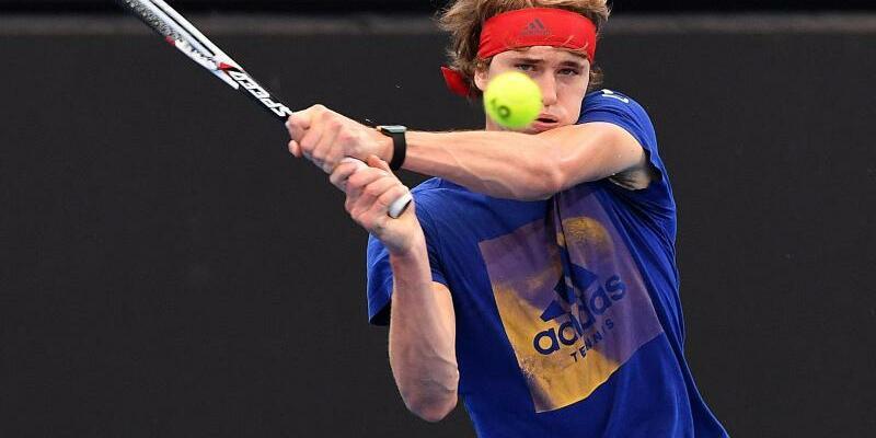 Mühe - Foto: Alexander Zverev hat sich den Fünf-Satz-Sieg gegen den Australier Alex DE Minaur hart erkämpft. Foto:Dave Hunt