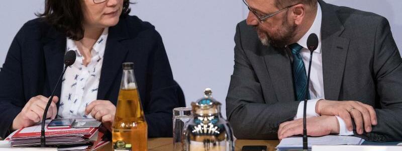 Nahles und Schulz - Foto: Bernd von Jutrczenka