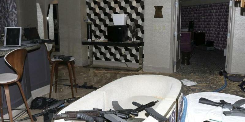 Waffen im Zimmer - Foto: Las Vegas Metropolitan Police