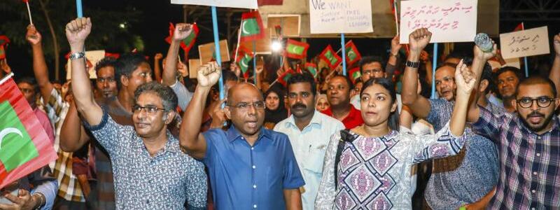 Demonstration - Foto: Mohamed Sharuhaan