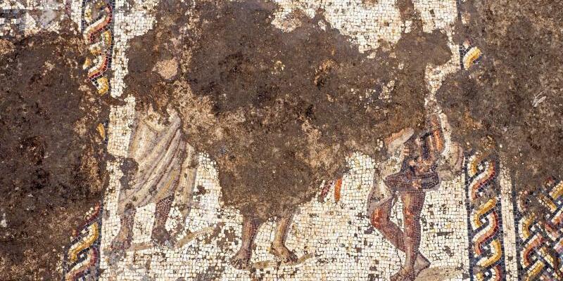 1700 Jahre altes buntes Mosaik - Foto: Assaf Peretz