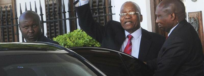 Jacob Zuma - Foto: Zumas zweite Amtszeit würde normalerweise erst 2019 enden. Foto:AP