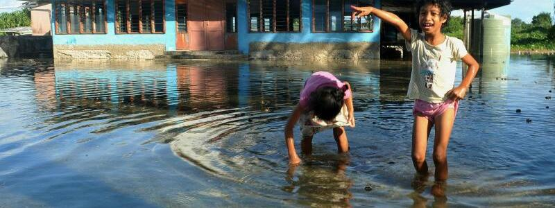 Flut in Tuvalu - Foto: Kyodo