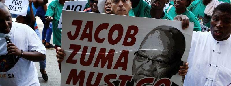 Demonstration gegen Zuma - Foto: Uncredited/AP