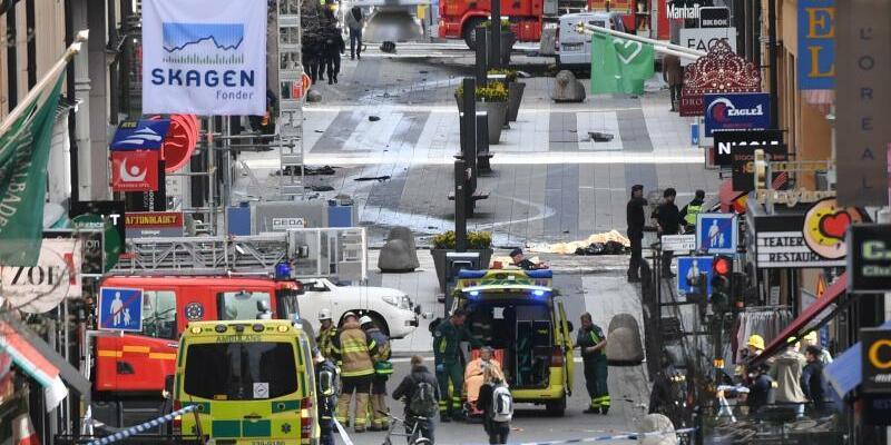 Terroranschlag in Stockholm - Foto: Fredrik Sandberg/TT NEWS AGENCY/AP