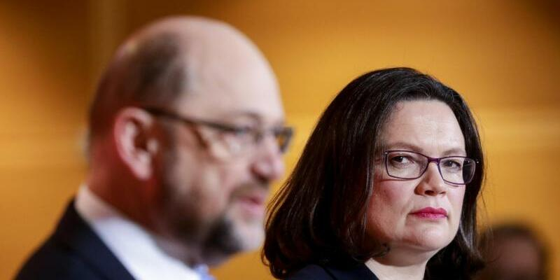 Nahles und Schulz - Foto: Kay Nietfeld