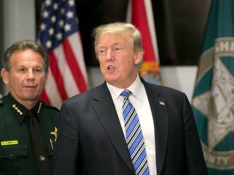 Donald Trump in Florida - Foto: Allen Eyestone/Palm Beach Post via ZUMA Wire