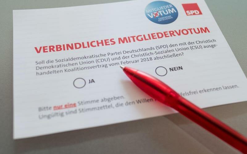 Wahlunterlagen zum SPD-Mitgliedervotum - Foto: Peter Steffen