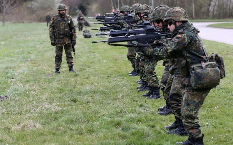Bundeswehr-Soldaten in Husum - Foto: Christian Charisius