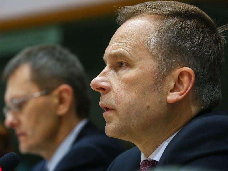 Rimsevics - Foto: Rimsevics steht seit 2001 an der Spitze der Zentralbank Lettlands. Foto:Warnand/EPA
