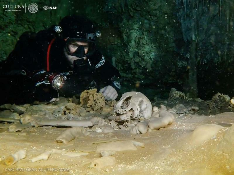 Archäologischer Fund - Foto: Inah/NOTIMEX