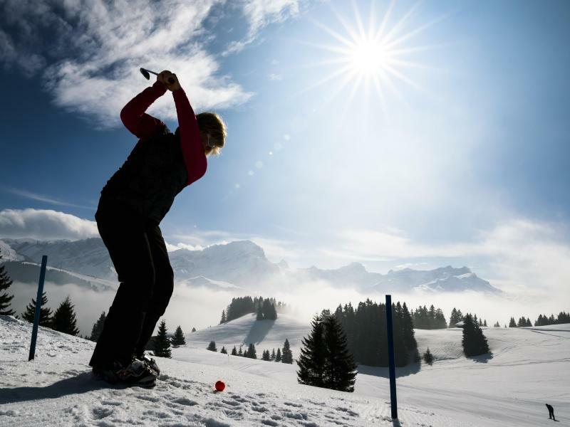 Winter-Golf - Foto: Valentin Flauraud