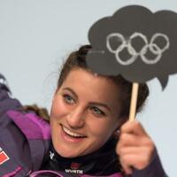 Ramona Hofmeister - Foto: Snowboarderin Ramona Hofmeister rechnet sich im Parallel-Riesenslalom Medaillenchancen aus. Foto:Peter Kneffel