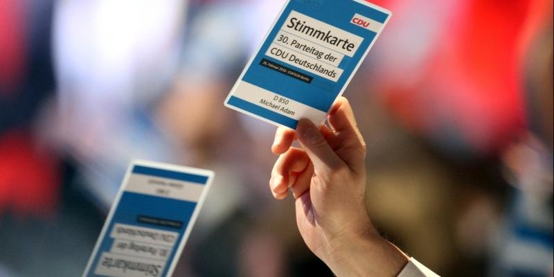 Abstimmung auf CDU-Parteitag am 26.02.2018 - Foto: über dts Nachrichtenagentur