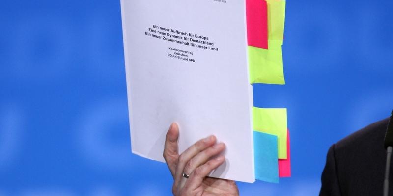 Koalitionsvertrag - Foto: über dts Nachrichtenagentur