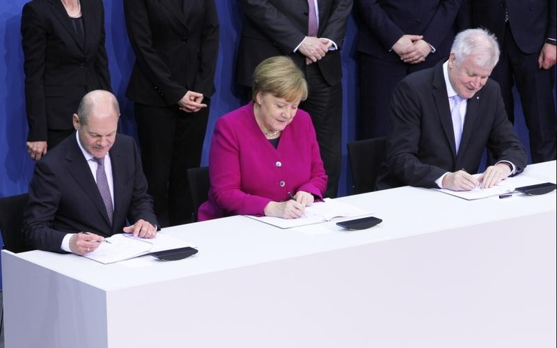 Koalitionsvertrag wird unterschrieben am 12.03.2018 - Foto: über dts Nachrichtenagentur