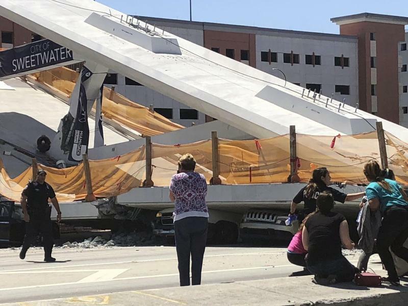 Eingestürzte Fußgängerbrücke - Foto: WTVJ NBC6