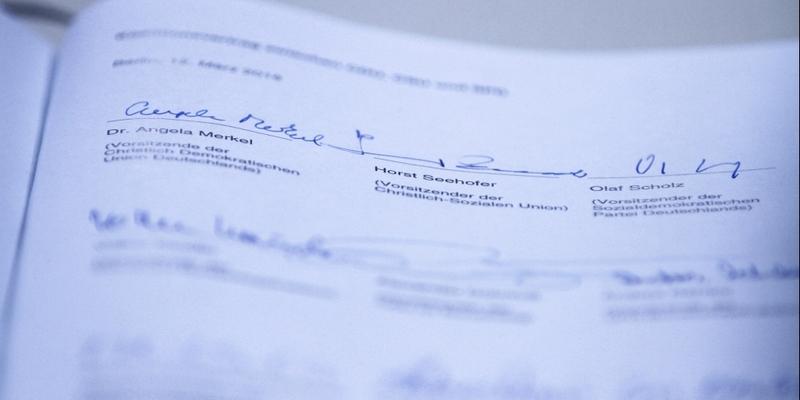 Unterschriften unter Koalitionsvertrag 2018-2021 - Foto: über dts Nachrichtenagentur