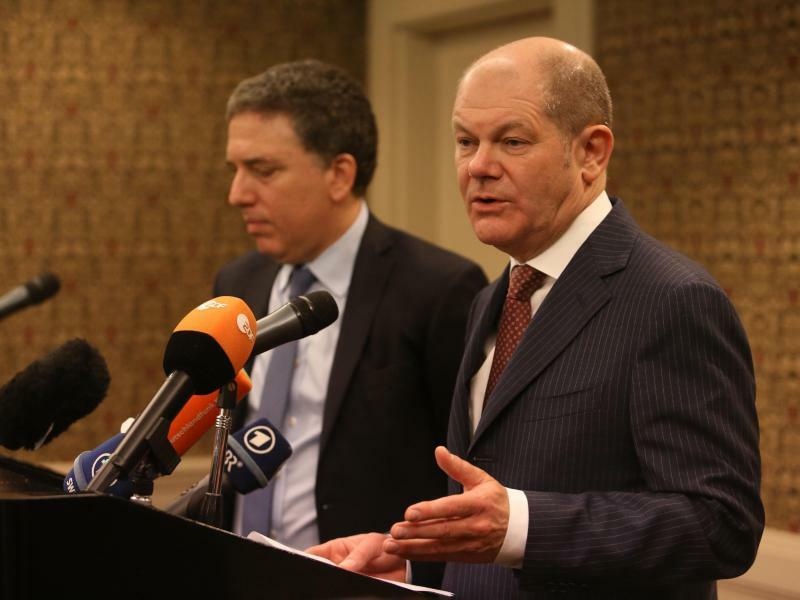 Olaf Scholz in Buenos Aires - Foto: Sebsatian Pani