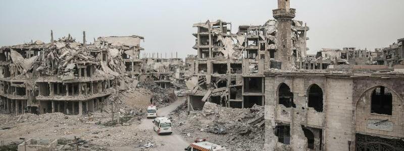 Zerstörung in Syrien - Foto: Anas Alkharboutli