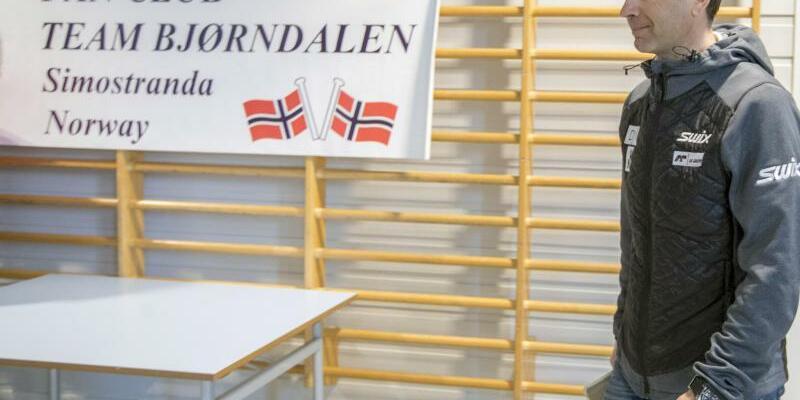 Pressekonferenz - Foto: Im norwegischen Simostranda verkündet Ole Einar Björndalen das Ende seiner Karriere. Foto:Vidar Ruud/NTB scanpix