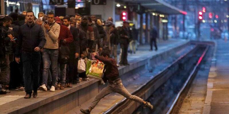 Bahnstreik in Frankreich - Foto: Francois Mori
