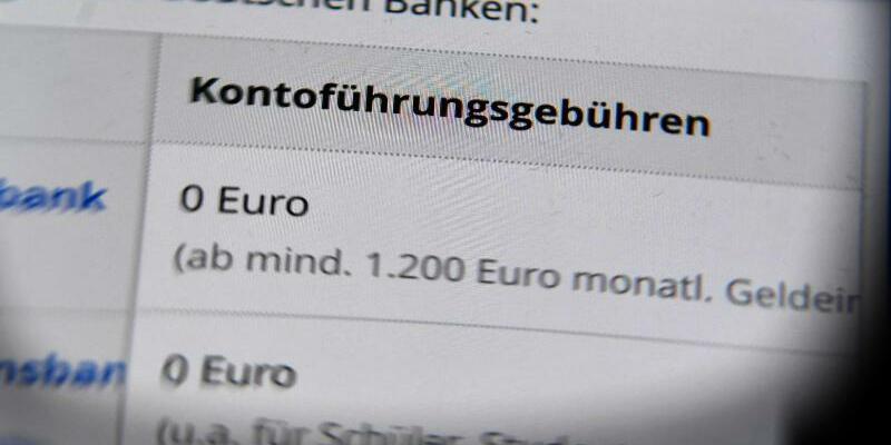 Kontoführungsgebühren - Foto: Jens Kalaene