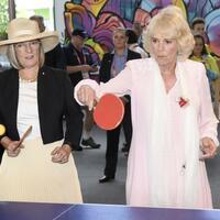 Ping-Pong mit Camilla - Foto: William West, AFP
