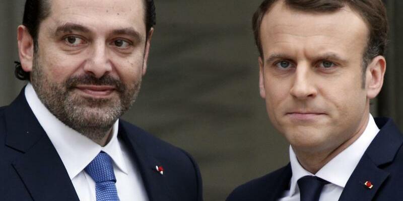Saad Hariri und Emmanuel Macron - Foto: Thibault Camus/AP
