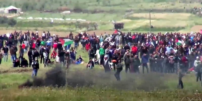 Proteste im Gazastreifen Ende März 2018 - Foto: IDF,  Text: über dts Nachrichtenagentur