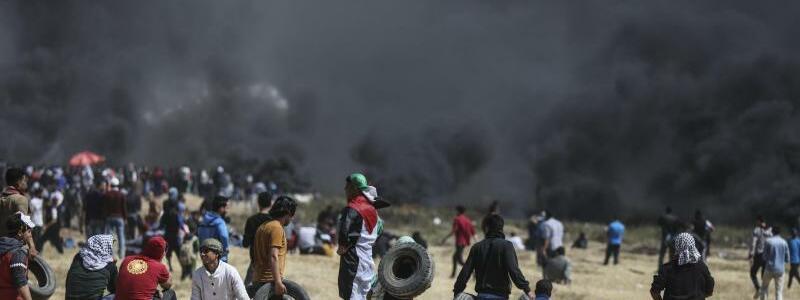 Proteste an israelischer Grenze im Gazastreifen - Foto: Wissam Nassar