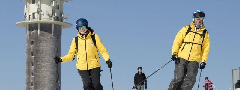 Wintersportler auf dem Feldberg - Foto: Steffen Schmidt
