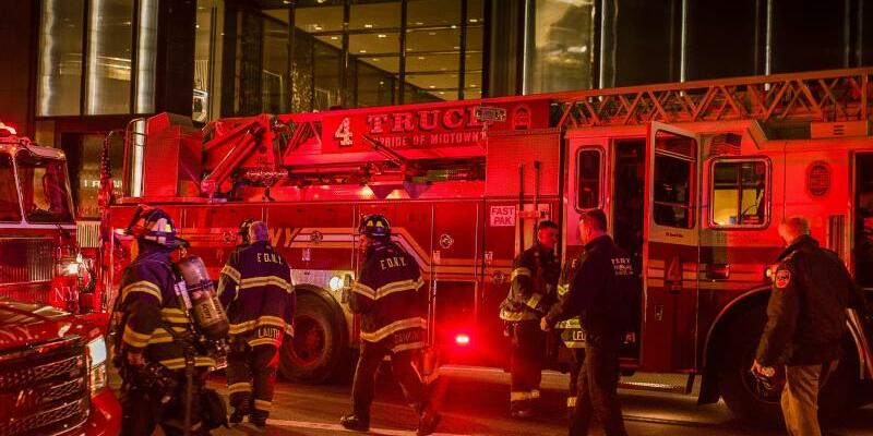 Feuer im Trump Tower - Foto: Andres Kudacki/AP