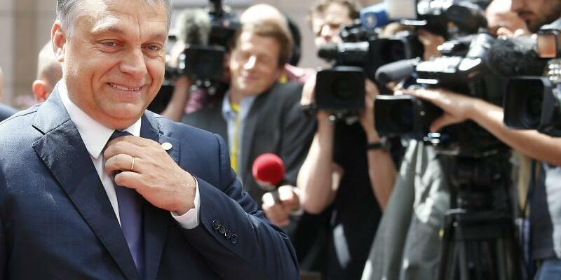Orban in Brüssel - Foto: Julien Warnand/EPA