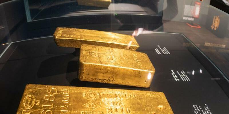 Bundesbank zeigt einen Teil ihres Goldschatzes - Foto: Frank Rumpenhorst