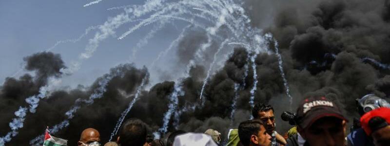 Proteste an israelischer Grenze im Gazastreifen - Foto: Mohammed Talatene