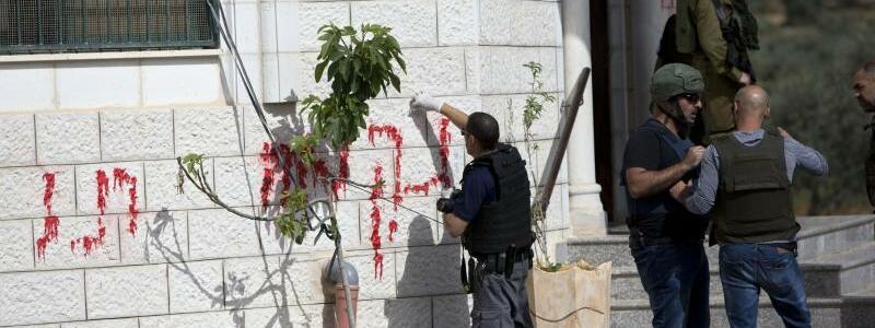 Brandanschlag auf Moschee - Foto: Majdi Mohammed/AP