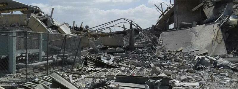 Trümmer in Barsah - Foto: SANA/AP