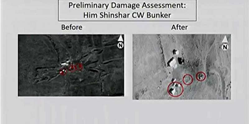 US-Präsentation nach Luftschlag am 14.04.2018 - Foto: über dts Nachrichtenagentur