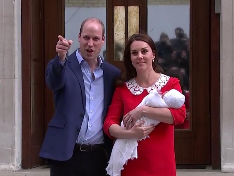 William und Kate mit ihrem Sohn am 23.04.2018 - Foto: über dts Nachrichtenagentur
