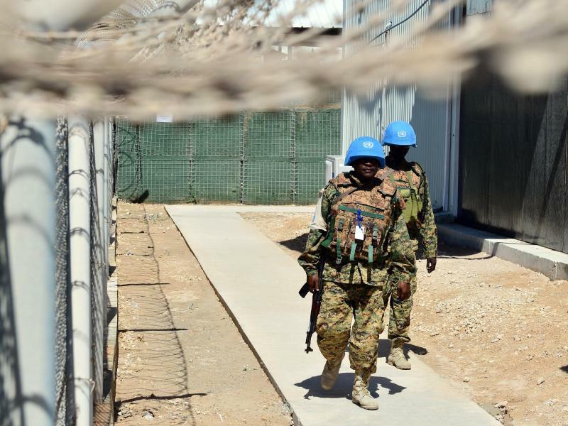 UN-Soldaten in Mogadischu - Foto: Maurizio Gambarini/Archiv