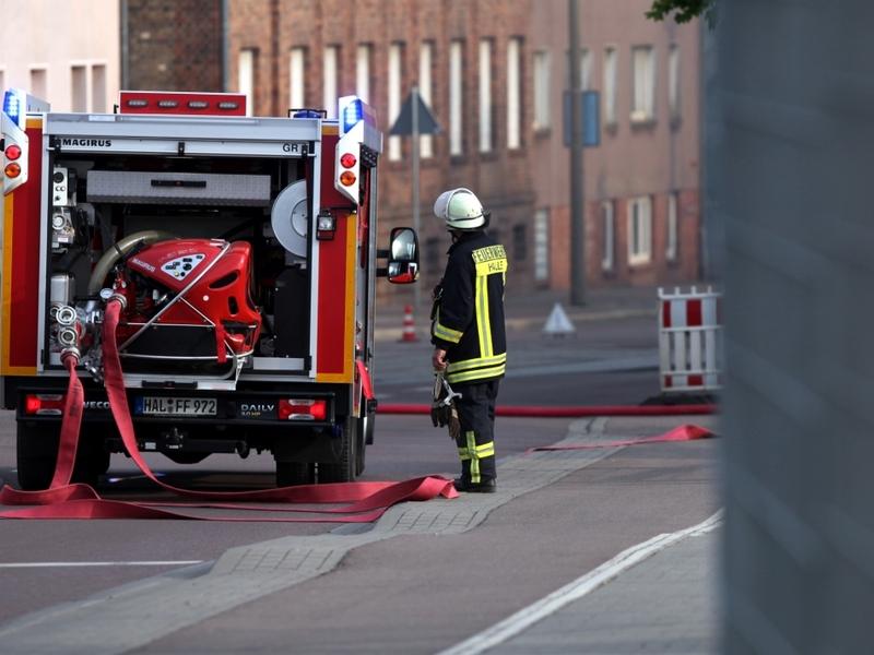 Feuerwehr Halle im Einsatz beim Brand Alter Schlachthof - Foto: über dts Nachrichtenagentur